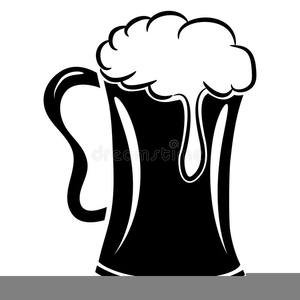 Beer Mug Clipart Black White.