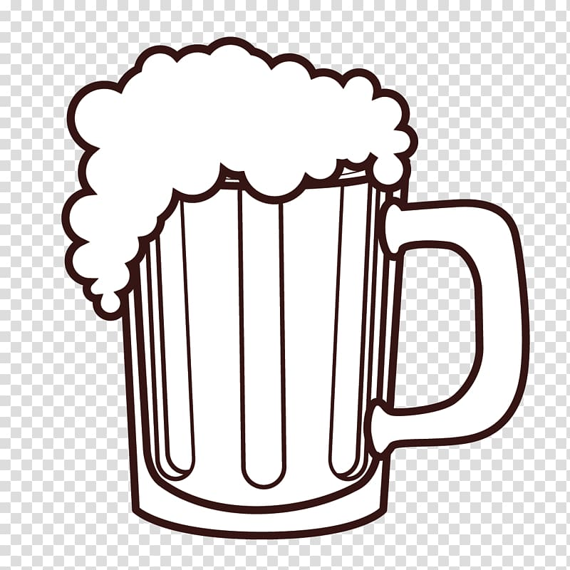 Brown mug illustration, Beer Coffee cup Pitcher Euclidean.