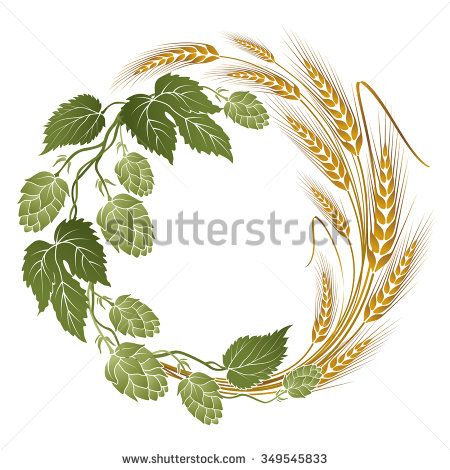 hops and barley clip art.