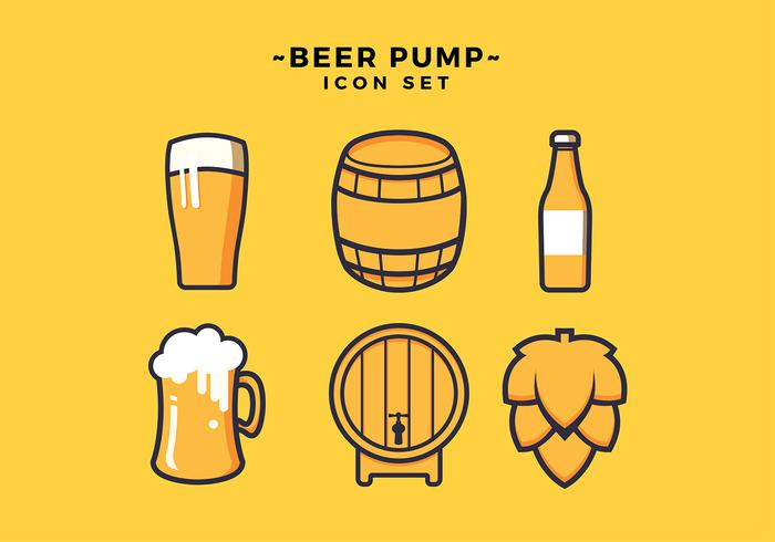Beer Icon Set Free Vector.