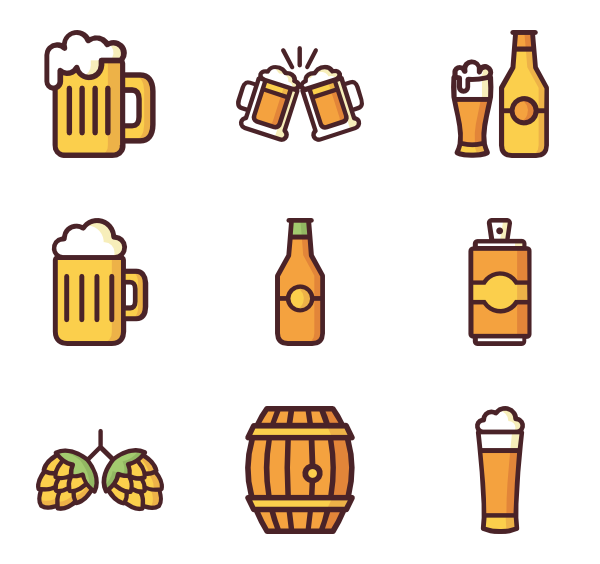 Pint of beer Icons.