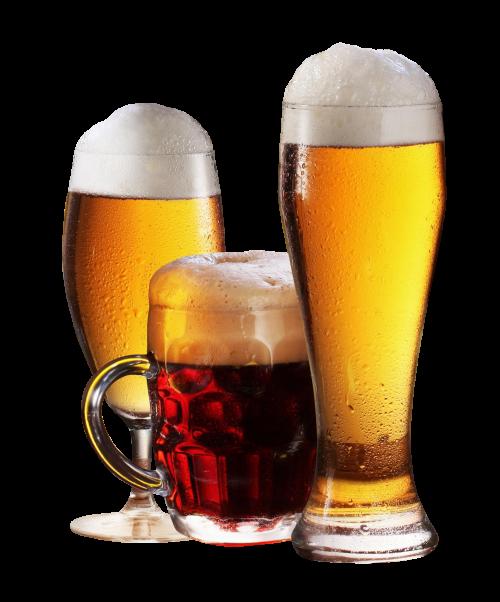 Beer Glass Transparent PNG Image.