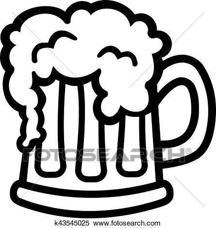 Cartoon Beer mug Clipart.