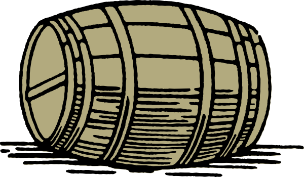 Beer Keg Black And White Clipart.