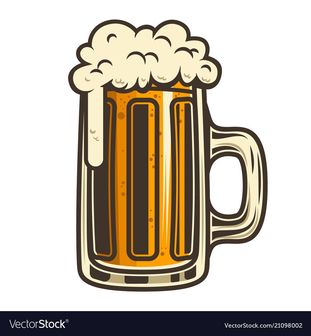 Beer mug design element for logo label emblem.