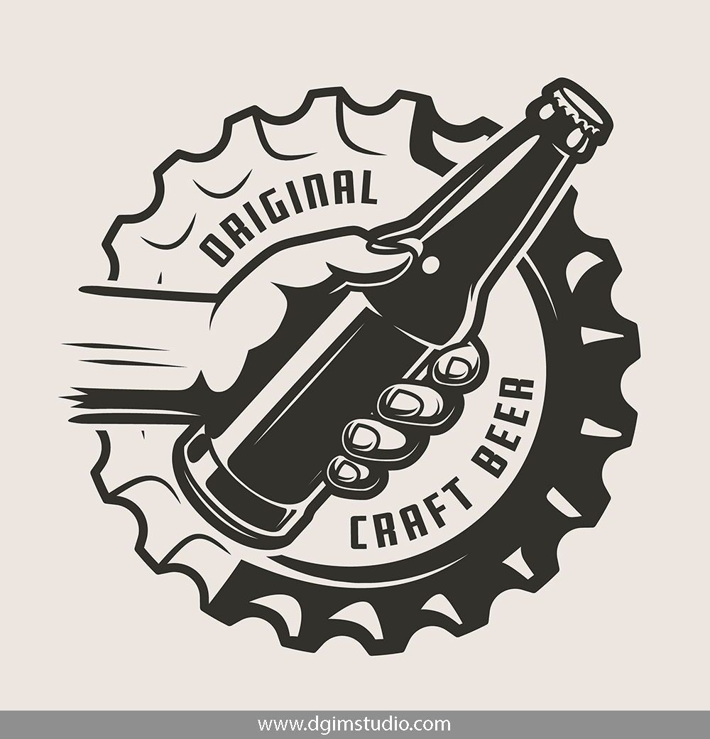 Vintage Beer Emblems Set in 2019.