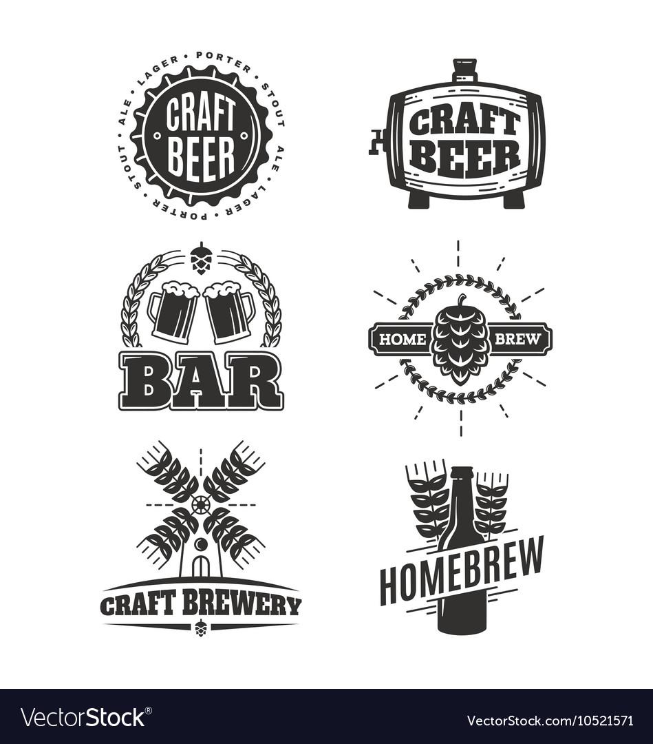 Vintage craft beer logos.