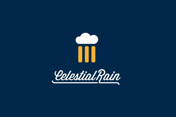 Celestial Rain Beer Logo Design.
