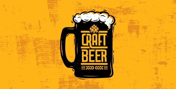 Craft Beer Logos in Modern Vintage Style.