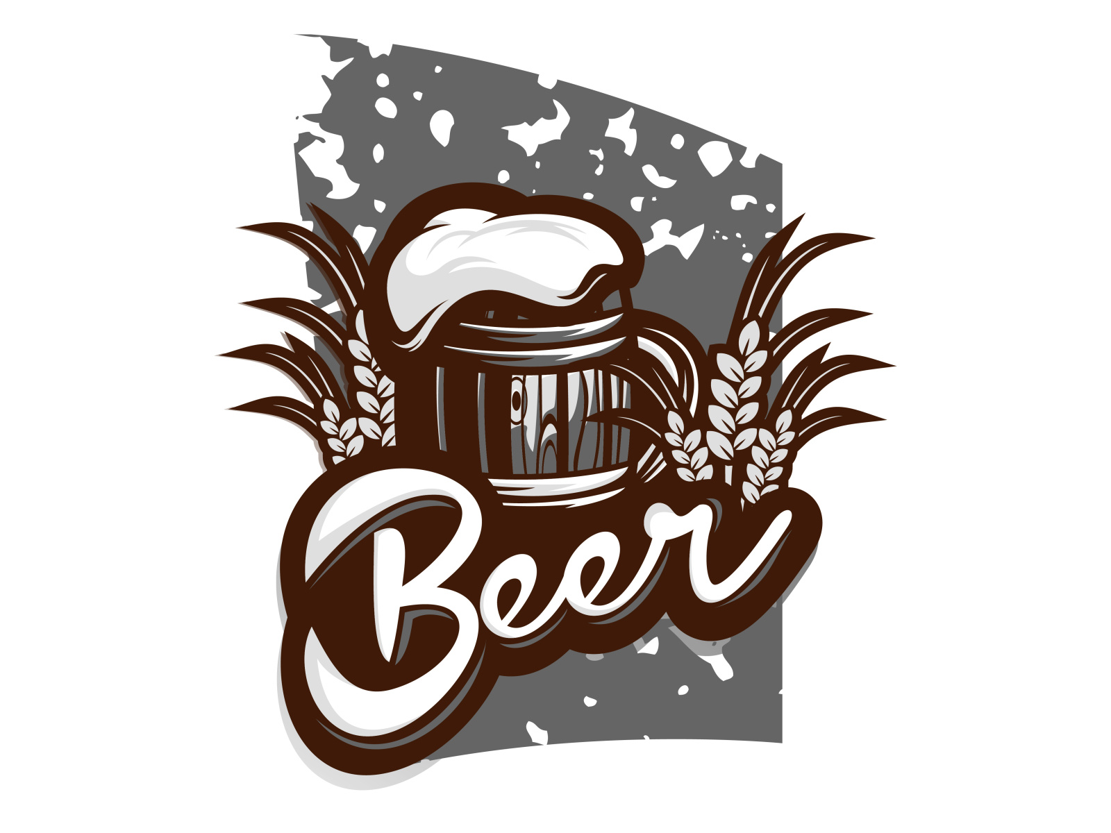 beer logo design illustration by over__designnn on Dribbble.