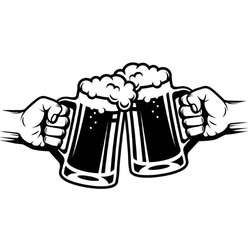Beer Logo #5 Mug Glass Pub Bar Tavern Bartender Brew Brewery Cheers Alcohol  Liquor Ale Drink.SVG .EPS .PNG Clipart Vector Cricut Cut Cutting.