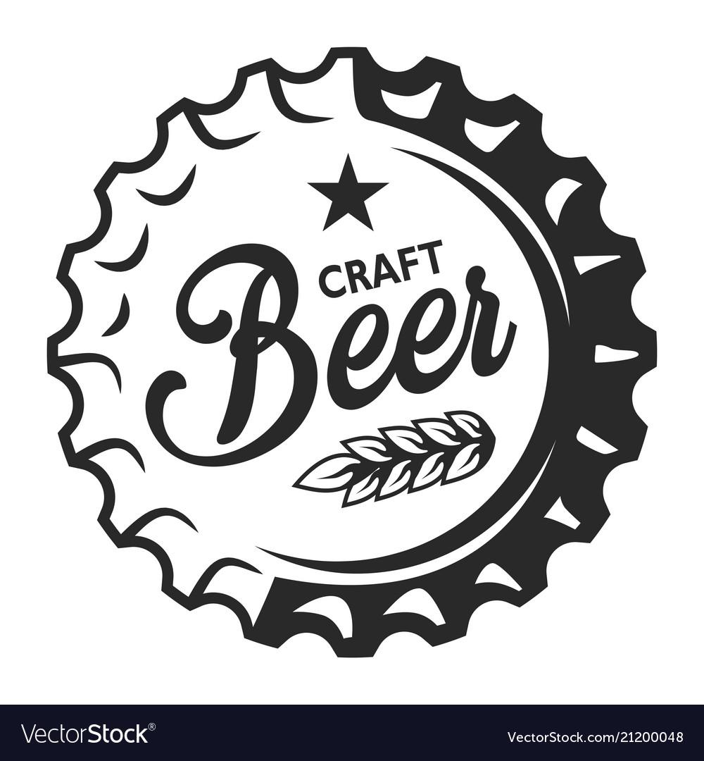 Vintage craft beer logo.