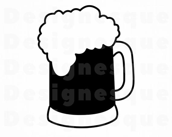 Beer #2 SVG, Beer Mug SVG, Beer SVG, Beer Mug Clipart, Beer Files for  Cricut, Beer Cut Files For Silhouette, Beer Dxf, Png, Eps, Beer Files.