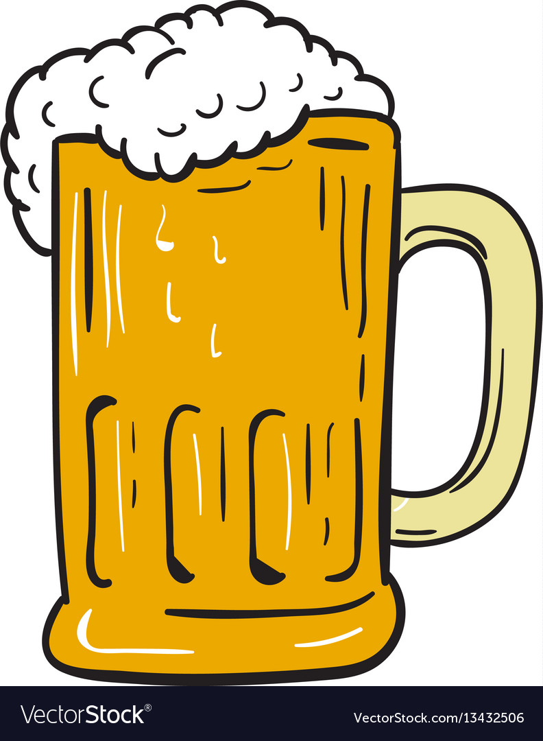 Beer mug drawing.
