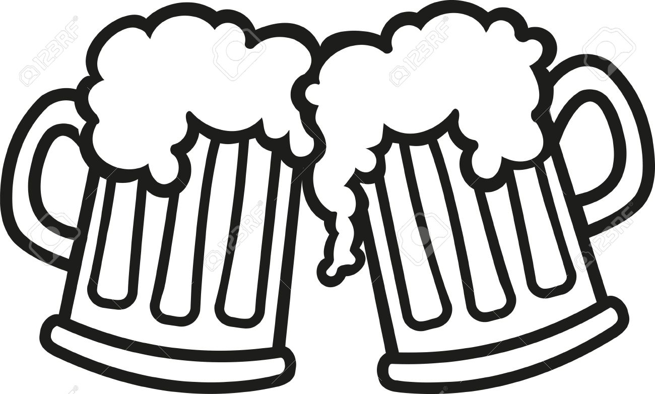 Beer mugs cartoon cheers.