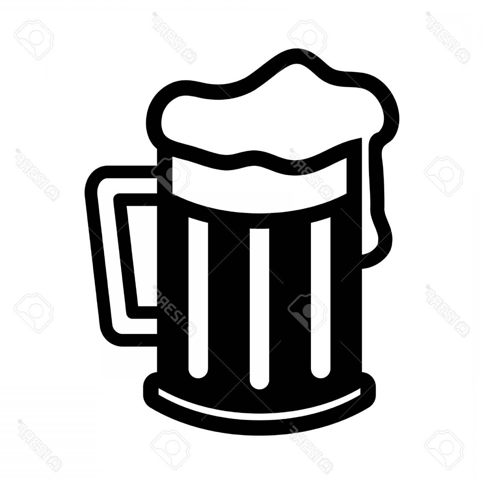 Photostock Vector Beer Mug Vector Icon.