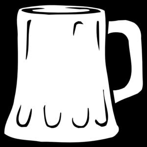 Beer Mug Black And White Clipart.