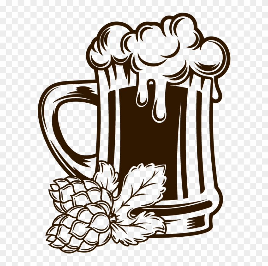 Pin Beer Mug Clipart Black And White.