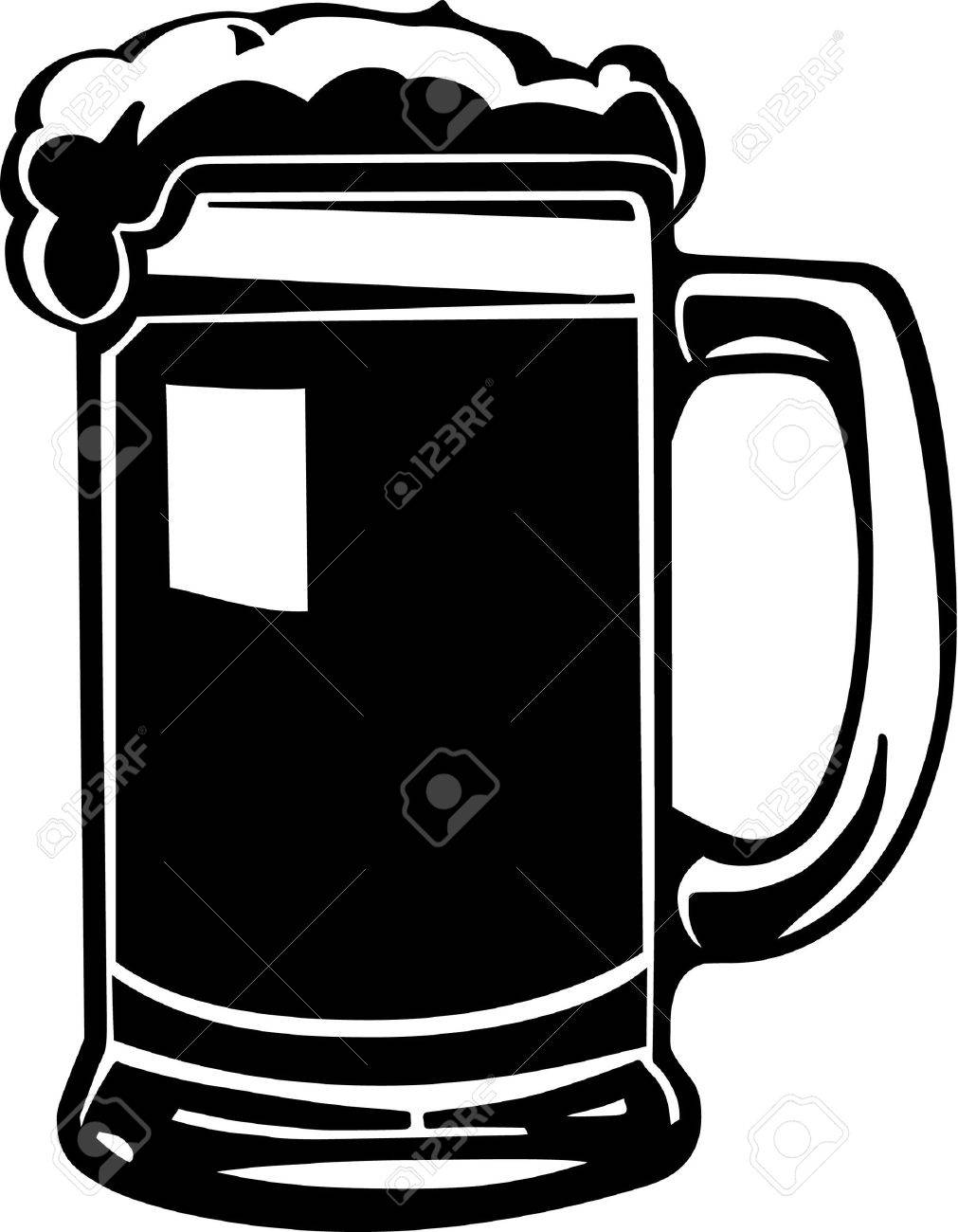 Beer mug clipart black and white 7 » Clipart Station.