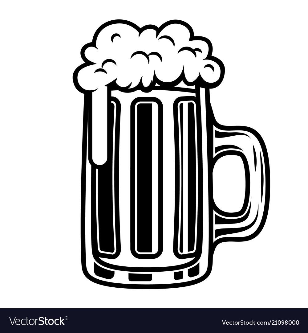 Beer mug isolated on white background design.