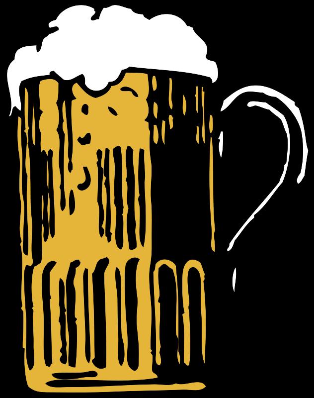 Free Clipart: Foamy mug of beer.
