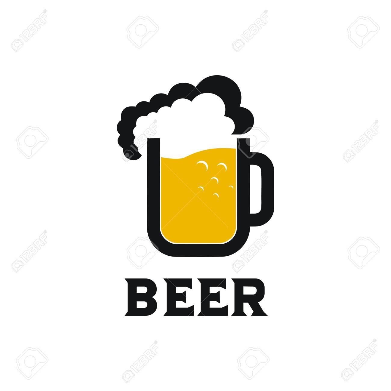 Beer mug logo vector design illustration.