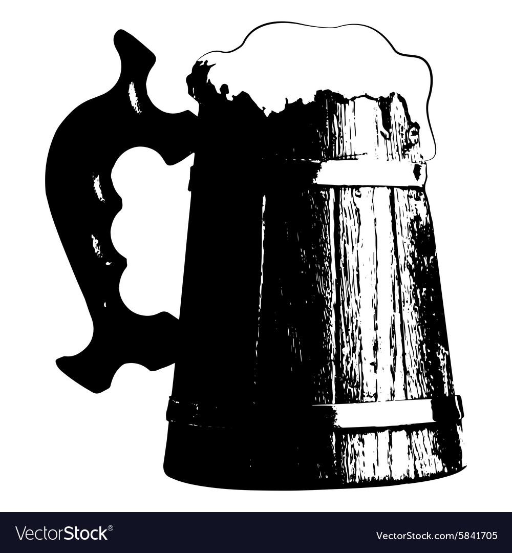 Silhouette beer mug.