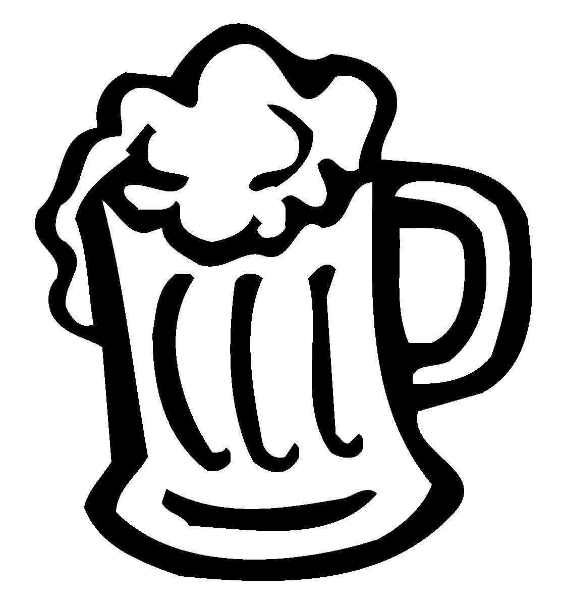 Beer Mug Decal, Beer Mug Sticker.