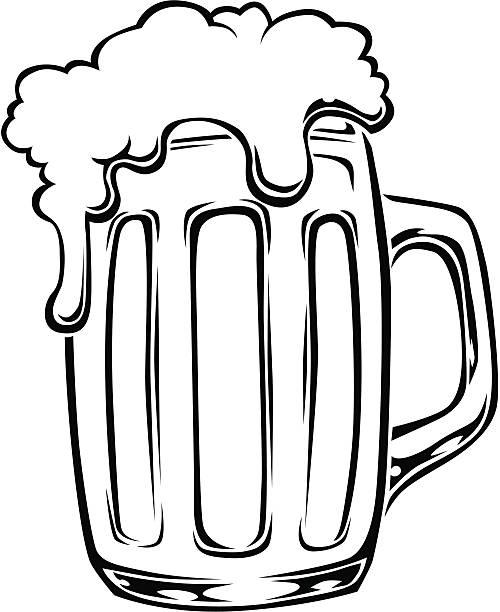 Beer Mug Clipart Black And White.