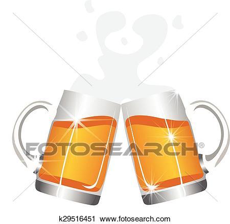 Beer mugs cheers Clipart.