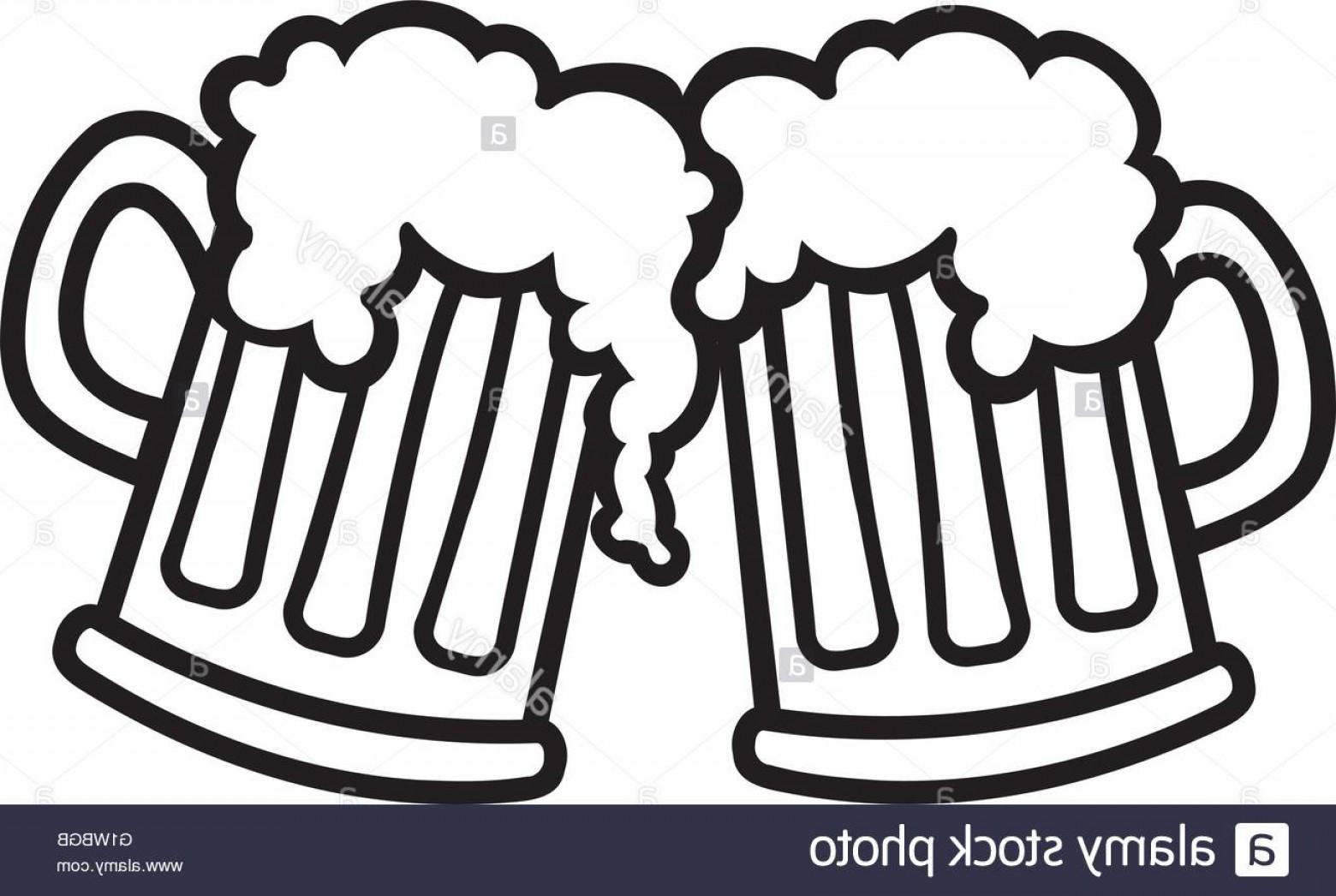 Stock Photo Beer Mugs Cartoon Cheers.
