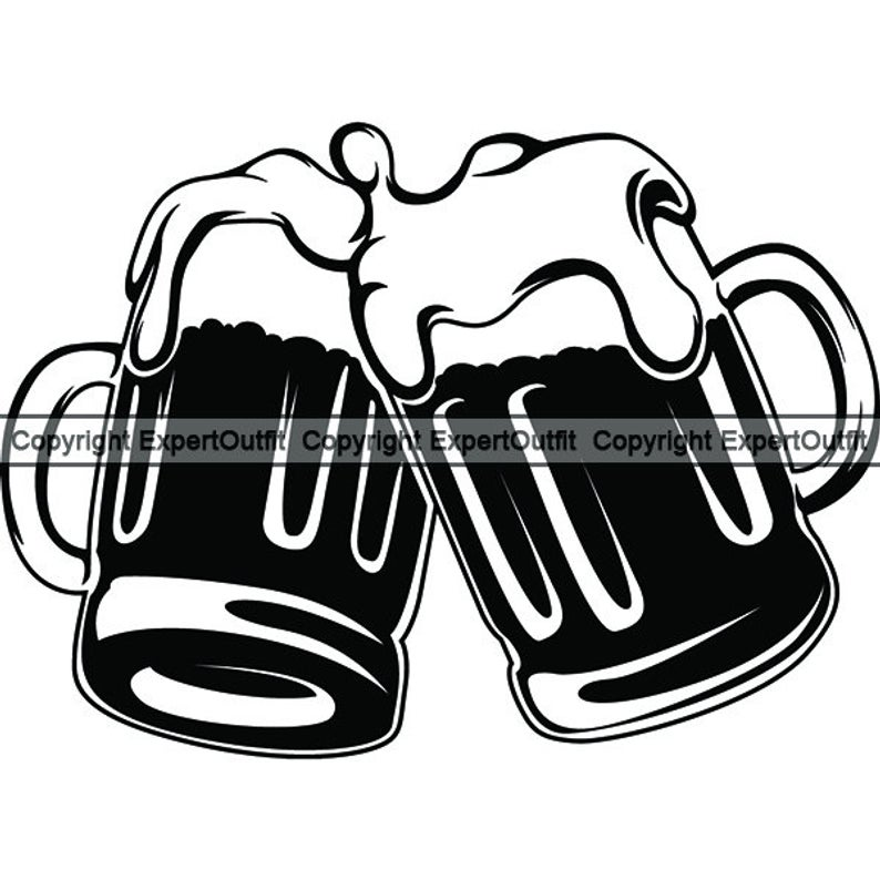 Beer Mug #10 Cheers Celebrate Drinking Glass Stein Bar Suds Foam Pub Drink  Alcohol Ale Cold Logo .SVG .PNG Clipart Vector Cricut Cut Cutting.