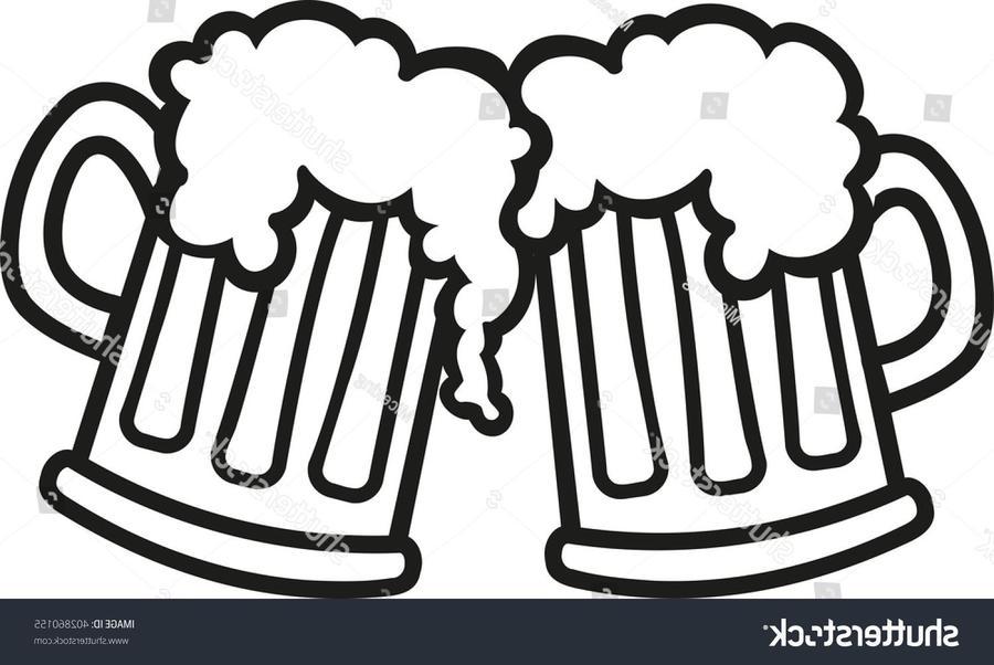 Beer Mug Drawing.