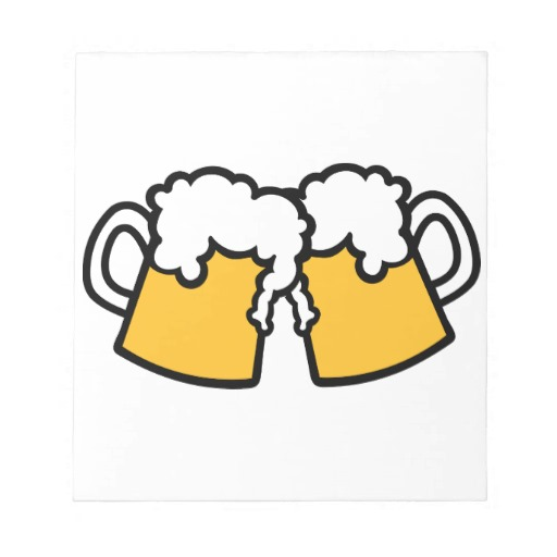 Beer mugs clipart.