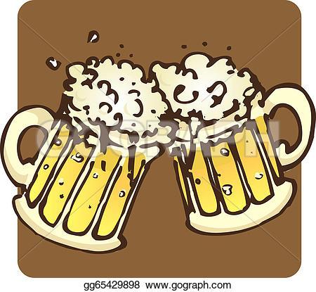 Beer Mugs Clip Art.