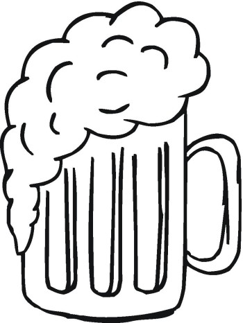 Beer mugs clipart black and white.