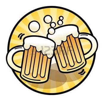 beer mug: Two beer mug sign.