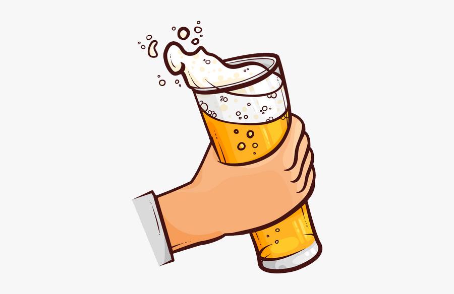 Mug Hand Holding Beer , Free Transparent Clipart.