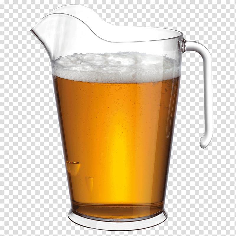 Beer Pitcher Jug Pint glass, glassware transparent.