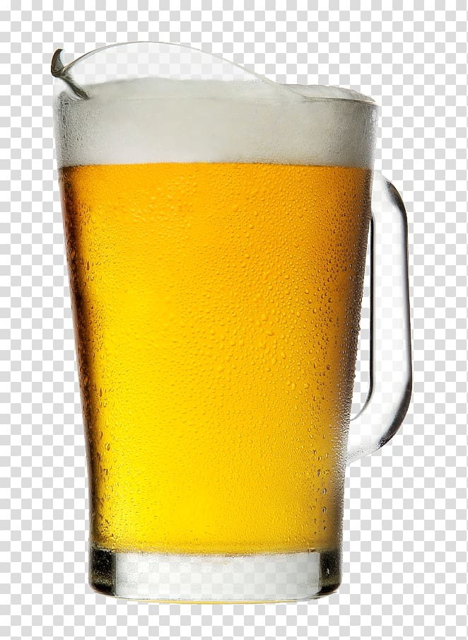 Clear drinking glass filled with beer, Beer Drink Glass.