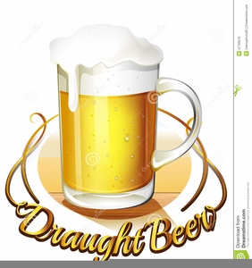 Pitcher Pouring Beer Clipart.