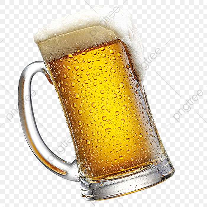 Cold Beer Decorative Pattern, Beer Clipart, Iced, Beer PNG.