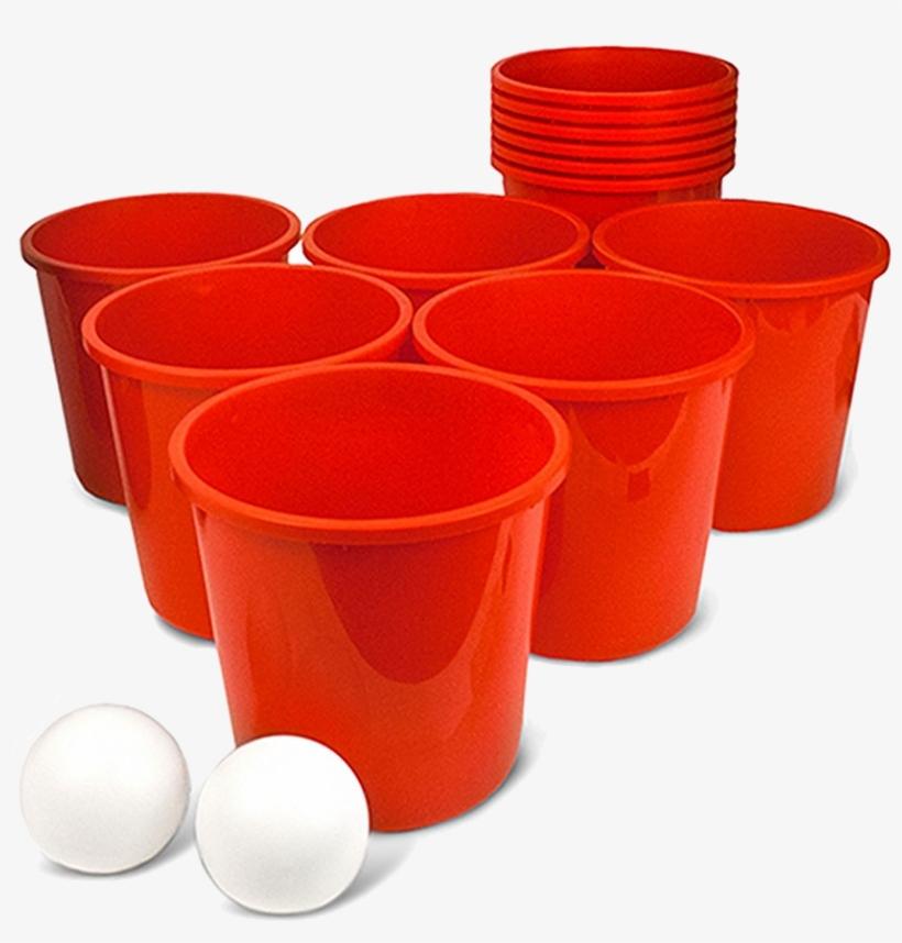 Giant Bucketpong Game.