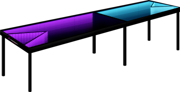 Infinity Glow L.E.D Beer Pong Table.
