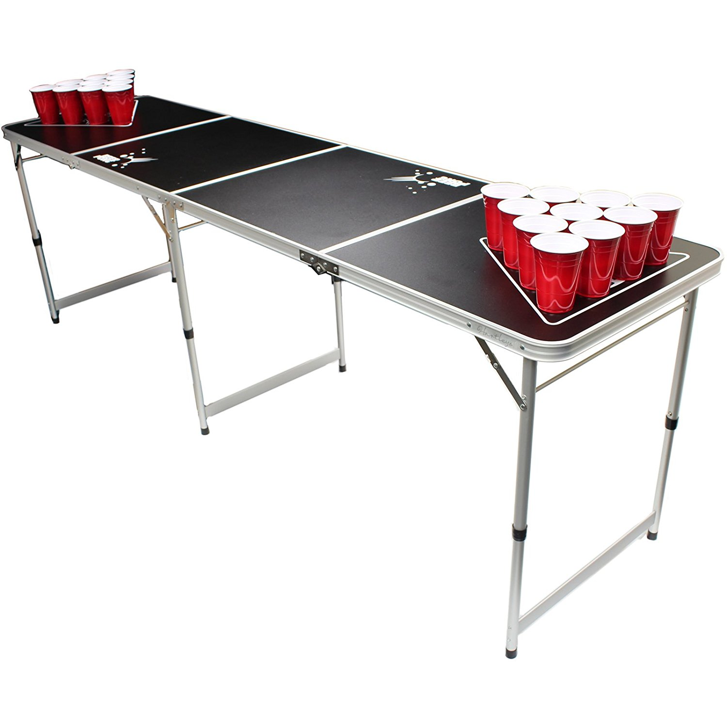 Hartley Official Size 8ft Folding Beer Pong Table.