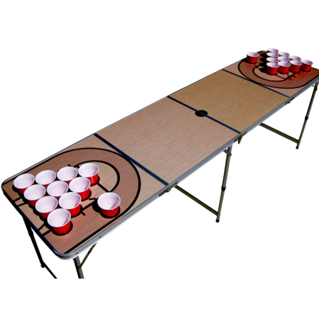 Basketball Court Beer Pong Table.