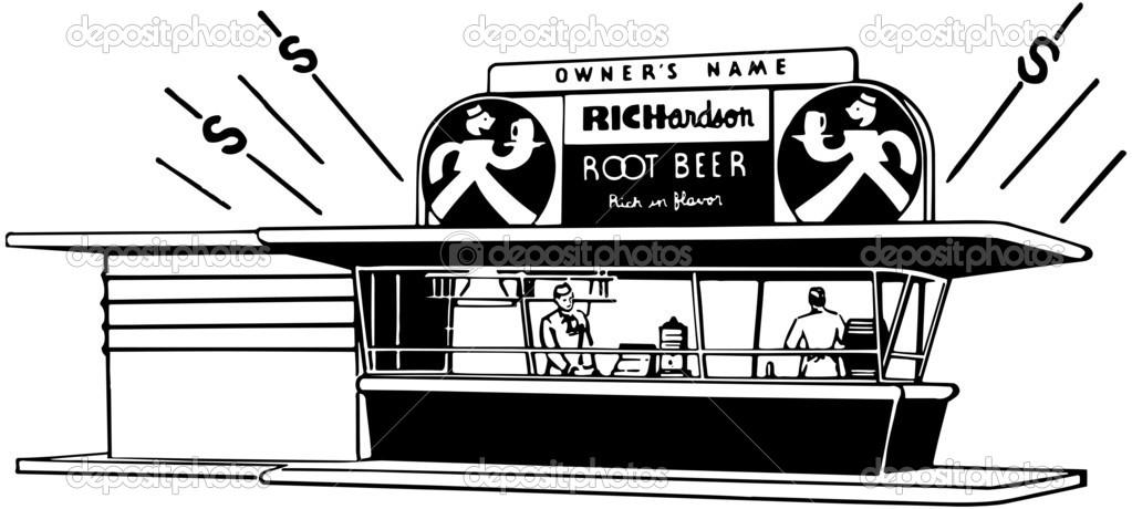 Root Beer Stand — Stock Vector © RetroClipArt #55675919.