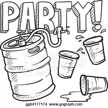 Drinking Party Clipart.