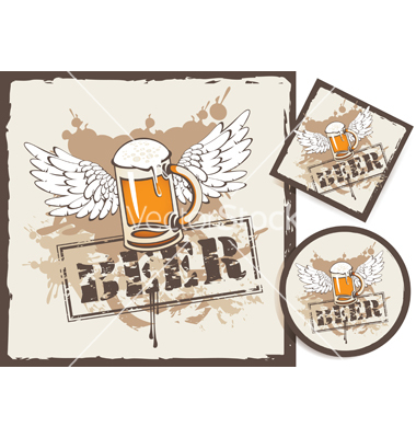 Beer stand vector by paseven.