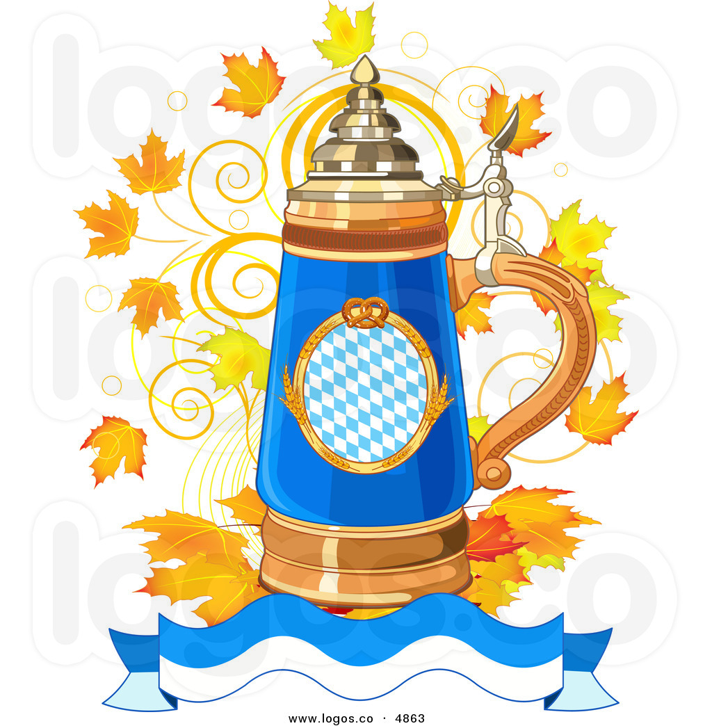 Beer Stein Outline Clipart.